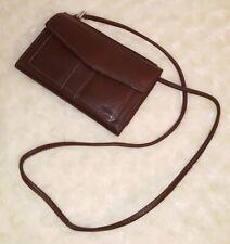FOSSIL Genuine Leather Organizer Wallet  Shoulder Bag Brown