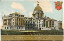 State Capitol at Jackson Ms Postcard