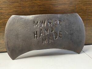 Vintage Marshall Wells Hardware Hand Made double Bit Axe Head MWH Co. Hand Made