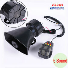 DC12V 100W 5 Sound Car Warning Siren Alarm Police Ambulance loudspeaker Systems