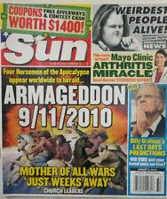 Sun Magazine Tabloid Aug 9 2010 Four Horsemen - Billy Graham - Weirdest People