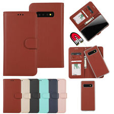 For Samsung Galaxy S20 Ultra S10e + Removable Wallet Case Magnetic Flip Cover