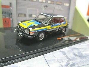 SAAB 99 EMS Rallye Schweden 1977 Winner #4 Blomqvist Sylvan IXO 1:43