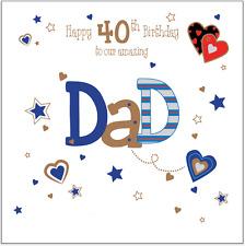 Tarjeta De Cumpleaños Personalizadas Papá Papá 30th 40th 50th 60th 70th 80th cualquier mensaje
