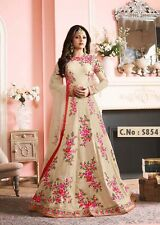 Latest Pakistani Collection 2017White Ethnic Bollywood Designer Party Wear Dress