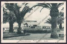 SAVONA PIETRA LIGURE 85 BAGNI GINO - SPREMUTA CHINOTTO MANARA viaggiata 1952