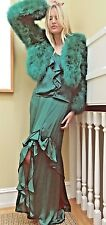Yves Saint Laurent / Tom Ford Two Piece Ruffled Dress 2003 New w Tags $3390 sz 8