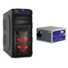GM-X02 Gaming PC Computer Gehäuse 4x Front USB Lüfter 700 Watt Netzteil 2x PCIe