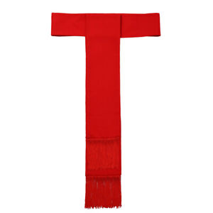Clergy Red Band Cincture With Fringe For Soutane Roman Cassock Cincture Belt