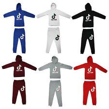 Kids TikTok Boys Girls Long Sleeve Hoodies Trouser Tracksuits Sportswear Set UK