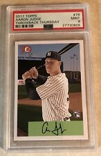 2017 TOPPS TBT SET 13  #78 AARON JUDGE PSA GRADED 9 MINT - 1954 BOWMAN DESIGN