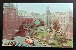 Vintage Postcard Place D'Armes Quebec City Canada 1950s Unposted