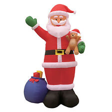 Christmas Inflatable Air Blown Yard Garden Decoration Santa Claus and Gift Bag