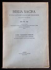 BIBLIA SACRA 7 LIBER VERBORUM DIERUM 1948 Libro dei Verbi sancti Hieronymi