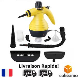 Nettoyeur Vapeur A Main + Accessoires Multi-Usage Taches Maison Siege Voiture FR
