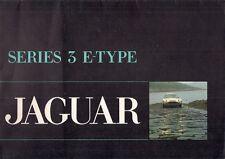 Jaguar E-Type V12 Series 3 1971-75 UK Market Foldout Sales Brochure Roadster 2+2