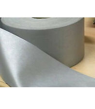 Silver Reflective Tape Iron On Grey 50mm Wide Hi Visibility buy by Metre Lengths