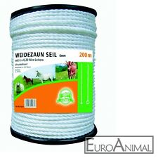 6 mm a 200 m 6xNiro Weidezaunseil 0,0695€//m Elektroseil