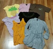 LOT 7PC MIXED JUNIORS GIRLS  CLOTHES WHOLESALE T-SHIRTS TOPS GIRL