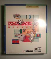 "Monopoly Deluxe for Windows Version 3.5 Virgin Games IBM PC 5.25"" 3.5"""