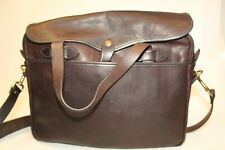 Filson Seattle Washington New Brown Leather Messenger Business Travel Bag