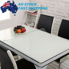 Wipe Clean Transparent Tablecloth Glass PVC Waterproof Table Protection Cover