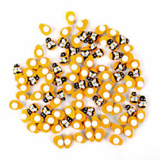 100×Mini 9x12mm Bees Self Adhesive Wooden Bumble Ladybug Craft Card Wood Toppers