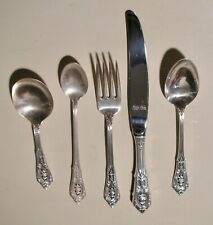 """Wallace Sterling Silver """"ROSE POINT"""" - Five Piece Youth & Baby Set"""
