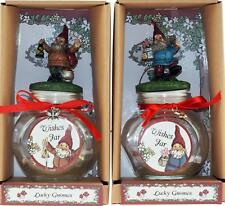 Set of 2 Novelty Gnome Wish Jars - With Wishing Scroll