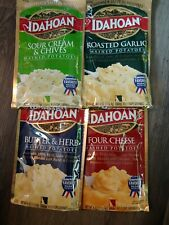Idahoan Roasted Garlic, sour cream chivesButter herbfour chee Mashed Potatoes LL