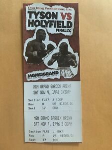 "Mike Tyson vs Evander Holyfield ""Finally"" 1996 FULL UNUSED $1500 Floor Ticket"