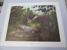 """Vtg Gary Crouch Lithograph Limited Edition """"Down by the Branch"""" Signed COA"""