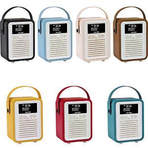 Retro Mini by VQ | Radio Bluetooth Speaker AM/FM/HD Battery with PU Leather Case