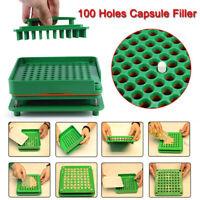 100 Holes Food Grade Filler Capsule Filling Machine Flate Tool