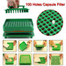 100 Holes Food Grade Filler Capsule Filling Machine Flate Tool