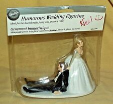 WEDDING CAKE TOPPER WILTON HUMOROUS NOW I HAVE YOU BRIDE GROOM NEW 2003 115-101
