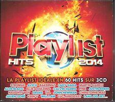 COFFRET 3 CD COMPIL 60 TITRES--PLAYLIST HITS 2014--STROMAE/GAGA/BIEBER/TAL/KEENV