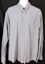 ERMENEGILDO ZEGNA Italy Gray Blue Plaid Button-Down Shirt SIZE XL
