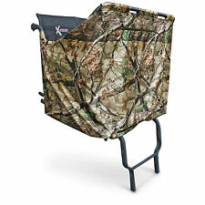 2 Man Person Ladder Tree Stand Hunting Blind Treestand Camouflage Cover Camo