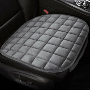 Gray Car Front Seat Cover Plush Pad Mat Chair Cushion Full Surround Accessories