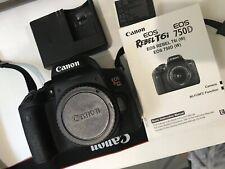 Canon EOS Rebel T6i 24.2MP DSLR Camera - Black (Body Only) - Near Mint Condition