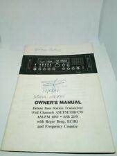 GALAXY SATURN INSTRUCTION MANUAL BROCHURE RADIO HF