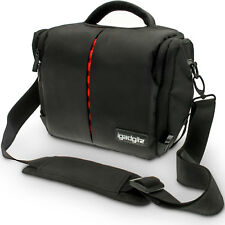 Black Water Resistant SLR DSLR Bridge Messenger Camera Bag Case + Rain Cover