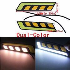 Universal COB LED Car Daytime Running Lights Daytime DRL Lamp w/ Turn Lights 2pc