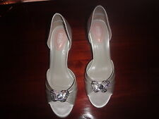Mid Heel (1.5-3 in.) Satin PINK Bridal Shoes