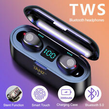 More details for tws bluetooth headphones earphones wireless earbuds in-ear for all ios & android