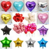"5pc 18"" Love Heart Five-pointed Star Foil Helium Balloons Wedding/Dating/ Party"