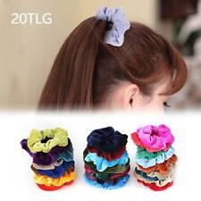 20 Stück Haargummi Samt Haarband Zopfband Frauen Velour Scrunchie Gummibä