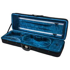 New Violin 4/4 Full Size Oblong Case Lightweight with Hygrometer Black/Blue