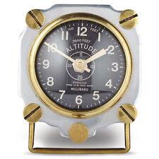 """Pendulux Aluminum """"Altimeter"""" Vintage Retro Aviation Table Clock"""